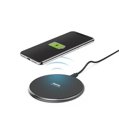 """Hama 188318 QI-FC10"""" 10W fekete vezeték nélküli mobiltelefon töltő"""