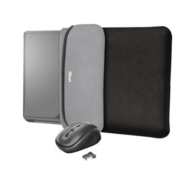 Trust Yvo fekete 15,6 notebook tok + wireless egér